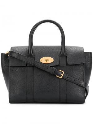 Маленькая сумка-тоут Bayswater Mulberry. Цвет: чёрный