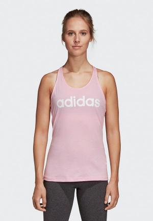 Майка спортивная adidas. Цвет: розовый
