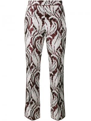 Укороченные брюки с вышивкой Giambattista Valli. Цвет: многоцветный