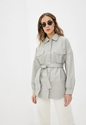 Куртка кожаная Topshop. Цвет: серый