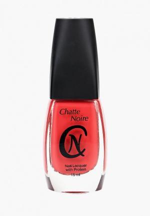 Лак для ногтей Chatte Noire. Цвет: коралловый