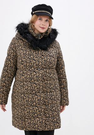 Куртка утепленная Ulla Popken. Цвет: коричневый