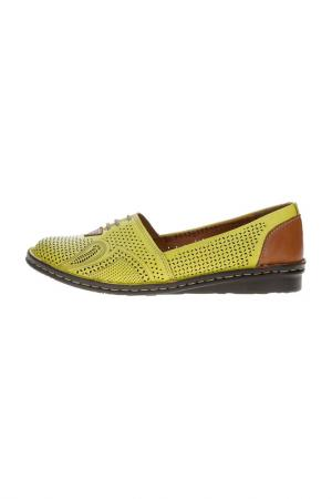 Туфли DAKKEM. Цвет: желтый
