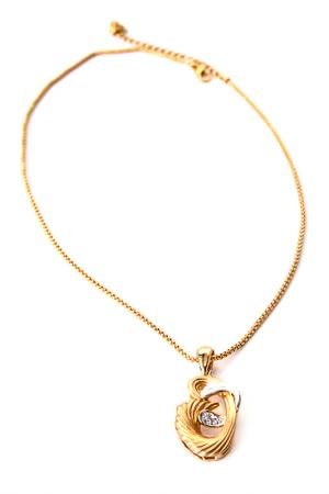 Кулон на цепочке INESSE M. Цвет: золотой
