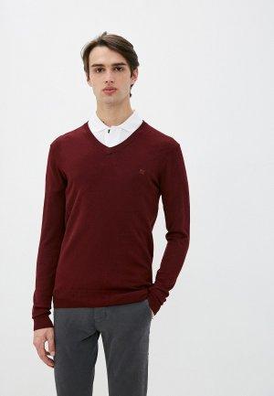 Пуловер Old Seams. Цвет: бордовый