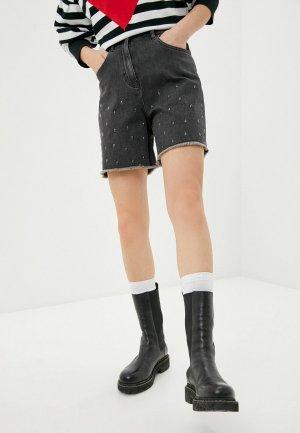 Шорты джинсовые Love Moschino. Цвет: серый