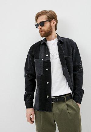 Куртка джинсовая The Kooples. Цвет: черный