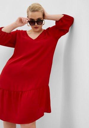 Платье Persona by Marina Rinaldi. Цвет: красный