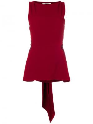 Атласная блузка с завязкой Chalayan. Цвет: красный
