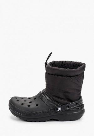 Полусапоги Crocs. Цвет: черный