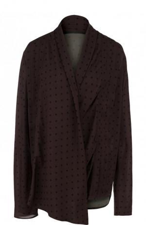 Блуза свободного кроя с V-образным вырезом Haider Ackermann. Цвет: коричневый