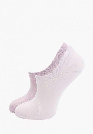 Носки 2 пары Nike. Цвет: фиолетовый