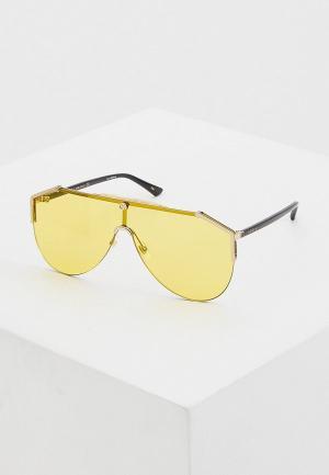 Очки солнцезащитные Gucci. Цвет: желтый