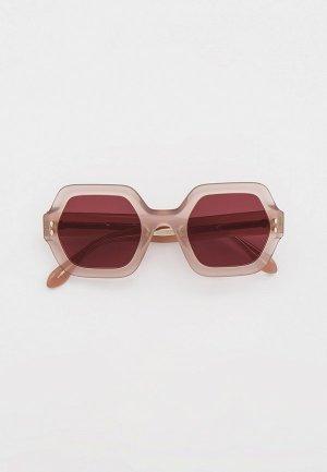 Очки солнцезащитные Isabel Marant. Цвет: розовый