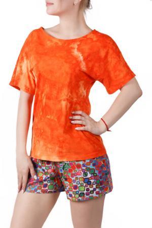 Пижамный комплект Sonett. Цвет: оранжево-зеленый