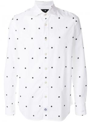 Рубашка с принтом черепов Hydrogen. Цвет: белый