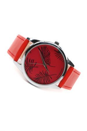 Часы Акварельные ветки MITYA VESELKOV. Цвет: красный