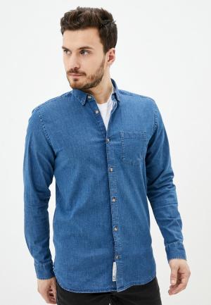 Рубашка джинсовая Only & Sons. Цвет: синий