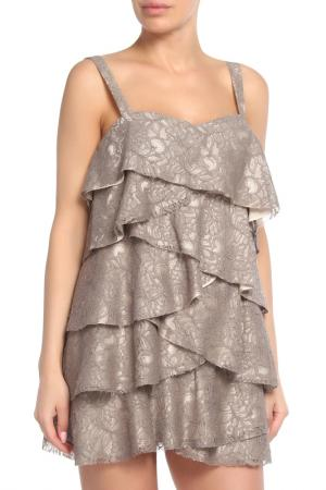 Платье Haute Hippie. Цвет: бежевый