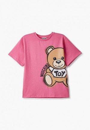 Футболка Moschino Kid. Цвет: розовый