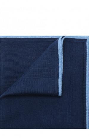 Платок из смеси хлопка и шелка Bilancioni. Цвет: синий