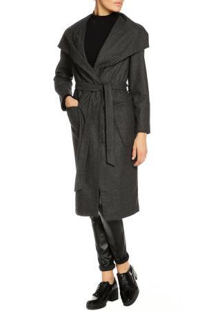 Пальто ELECTRASTYLE. Цвет: антрацитовый