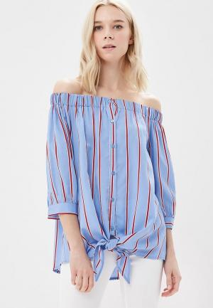 Блуза Miss by Valentina. Цвет: голубой