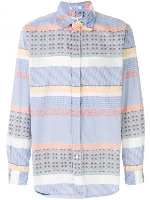 Рубашка с узором Engineered Garments. Цвет: синий
