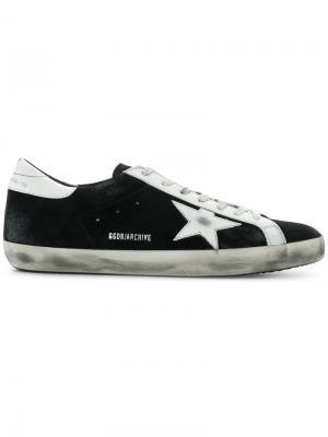 Suede sneakers Golden Goose Deluxe Brand. Цвет: чёрный