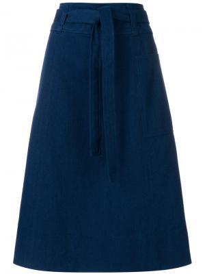 Belted midi skirt A.P.C.. Цвет: синий
