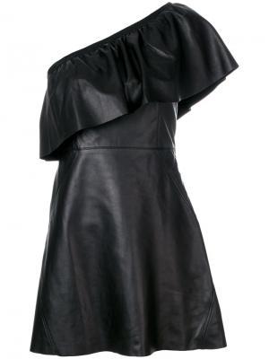 Платье на одно плечо A.L.C.. Цвет: чёрный