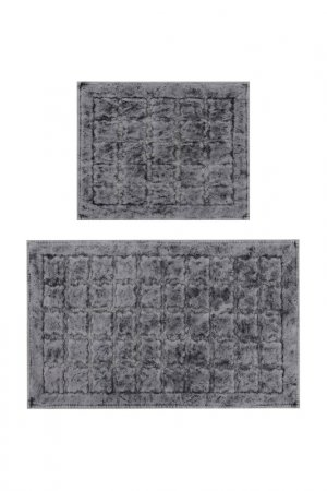 Bathmat set, 2 pieces BEVERLY HILLS POLO CLUB. Цвет: gray