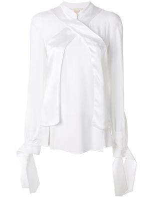 Рубашка с отделкой на манжетах Antonio Berardi. Цвет: белый