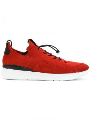 Кроссовки на эластичной шнуровке Enso. Цвет: красный
