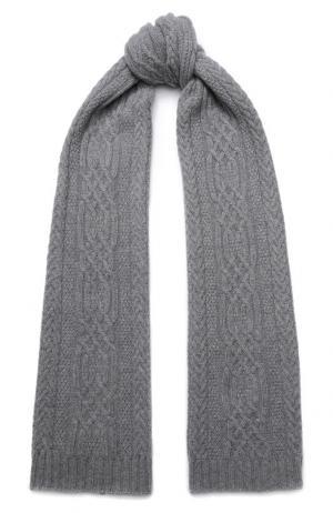 Кашемировый шарф фактурной вязки Kashja` Cashmere. Цвет: серый