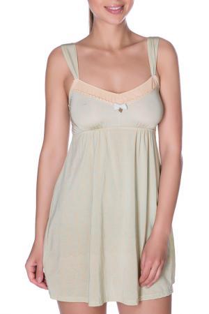 Сорочка ночная ROSE&PETAL LINGERIE. Цвет: голубой рисунок на пергаменте