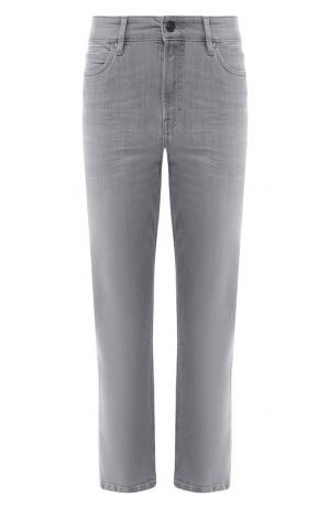 Укороченные джинсы с потертостями Escada Sport. Цвет: светло-серый