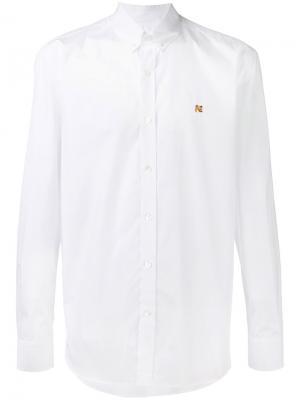 Рубашка с воротником на пуговицах Maison Kitsuné. Цвет: белый