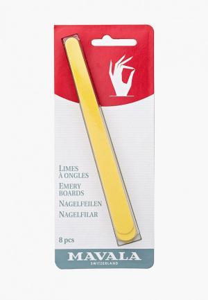 Набор для ухода за ногтями Mavala. Цвет: желтый