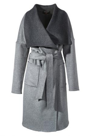 Пальто Apart. Цвет: серый меланж