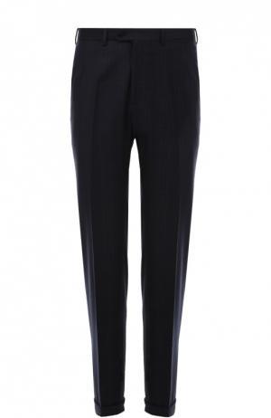 Классические брюки из смеси шерсти и кашемира Brioni. Цвет: темно-синий