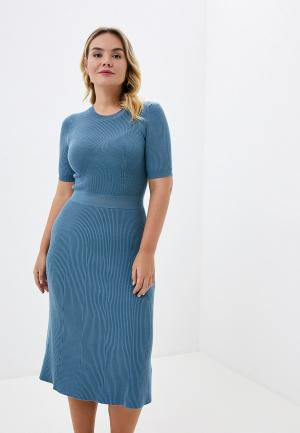 Платье Zarina. Цвет: голубой