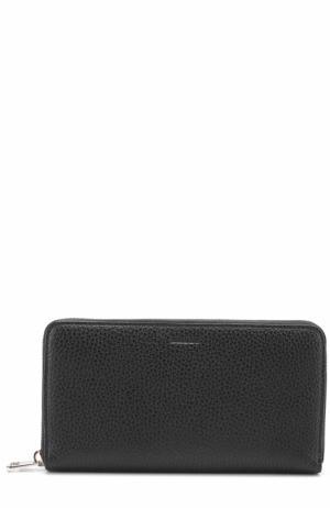 Кожаный бумажник на молнии с отделением для монет Bally. Цвет: черный
