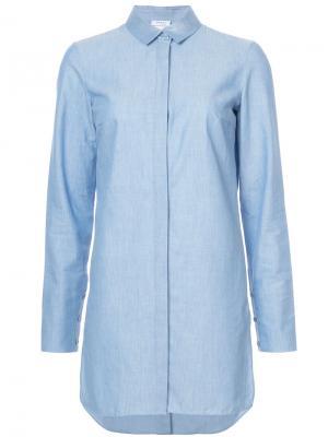 Длинная рубашка Akris Punto. Цвет: синий