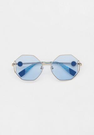 Очки солнцезащитные Furla. Цвет: серебряный