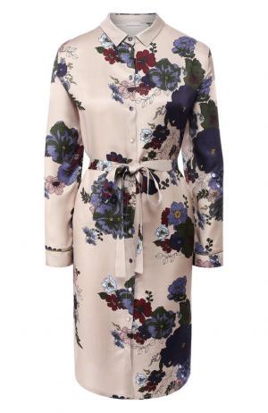 Ночная сорочка с поясом и принтом Hanro. Цвет: разноцветный