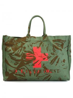 Пляжная сумка We Can Dance A.F.Vandevorst. Цвет: зелёный