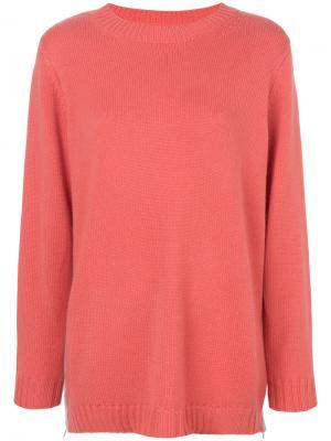 Классический трикотажный свитер Chinti & Parker. Цвет: розовый и фиолетовый