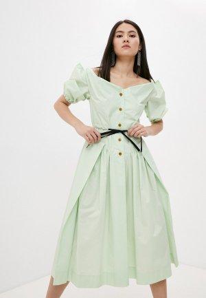 Платье Vivienne Westwood. Цвет: зеленый