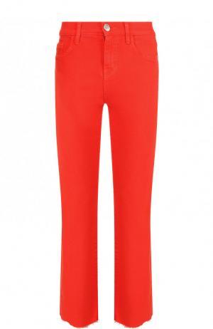 Укороченные однотонные джинсы Current/Elliott. Цвет: красный